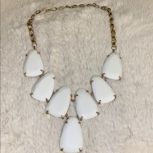 White Kendra Scott Harlow Necklace